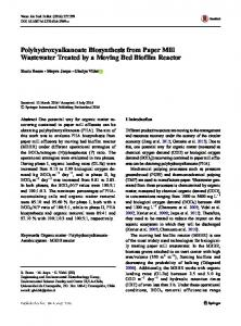 Polyhydroxyalkanoate Biosynthesis from Paper Mill ...