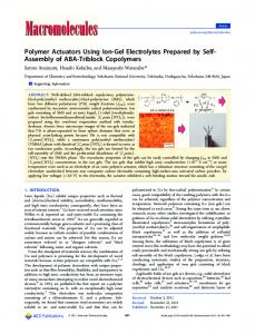 Polymer Actuators Using Ion-Gel Electrolytes ... - ACS Publications