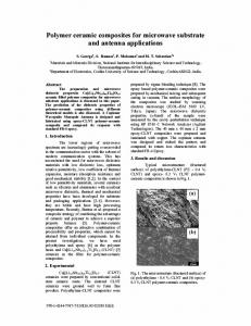 Polymer ceramic composites for microwave substrate