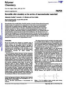 Polymer Chemistry PAPER - Core