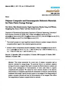 Polymer Composite and Nanocomposite Dielectric Materials ... - MDPI