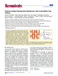 Polymer-Grafted Nanoparticle Membranes with ... - ACS Publications