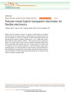 Polymer-metal hybrid transparent electrodes for flexible ... - Nature