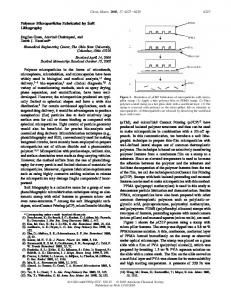 Polymer Microparticles Fabricated by Soft ... - ACS Publications