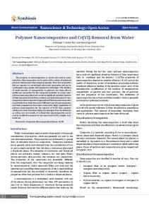 Polymer Nanocomposites and Cr(VI) Removal from Water - Symbiosis