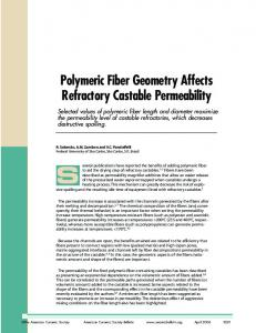 Polymeric Fiber Geometry Affects Refractory Castable Permeability