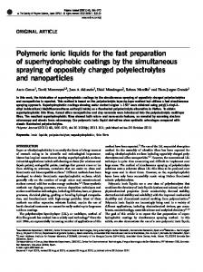 Polymeric ionic liquids for the fast preparation of ...
