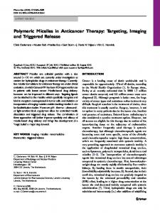 Polymeric Micelles in Anticancer Therapy: Targeting ... - Springer Link