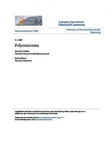 Polymersomes