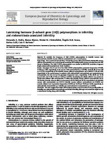 polymorphism in infertility and endometriosis-associated infertility