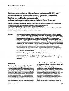 Polymorphisms in the dihydrofolate reductase (DHFR) and ...