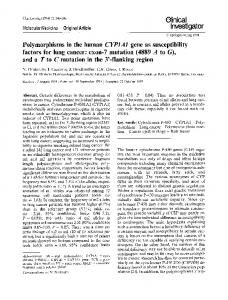Polymorphisms in the human - Springer Link