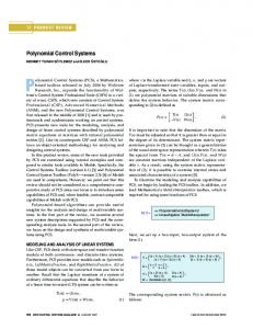 Polynomial Control Systems - IEEE Xplore
