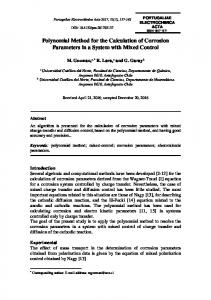 Polynomial Method for the Calculation of Corrosion Parameters in a ...