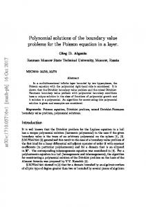 Polynomial solutions of the boundary value problems for the Poisson