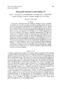 Polypeptides Specified by Bacteriophage T1 - CiteSeerX