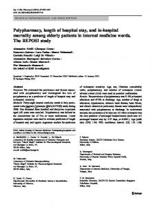 Polypharmacy, length of hospital stay, and in-hospital ... - IRIS UniPA