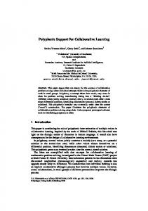 Polyphonic Support for Collaborative Learning - Gerry Stahl