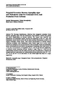 Polyploid Formation Between Aspergillus niger and Trichoderma ...