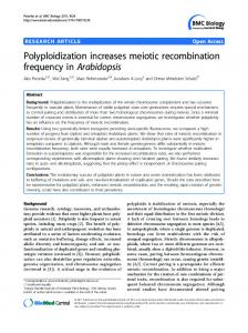 Polyploidization increases meiotic recombination ... - BioMedSearch