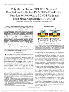 Polysilicon Channel TFT With Separated Double-Gate for ... - kaist