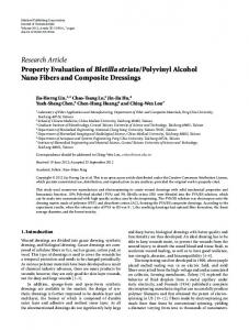 Polyvinyl Alcohol Nano Fibers