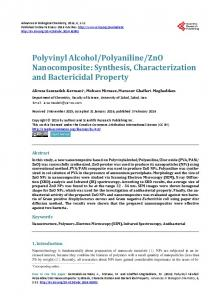 Polyvinyl Alcohol/Polyaniline/ZnO Nanocomposite - Scientific ...