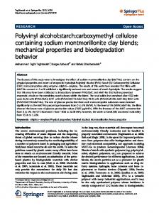 Polyvinyl alcohol:starch:carboxymethyl cellulose ... - BioMedSearch