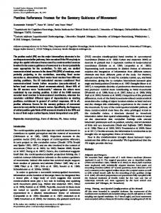 Pontine Reference Frames for the Sensory ... - Oxford Journals