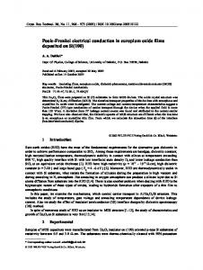 Poole-Frenkel electrical conduction in europium ... - Wiley Online Library
