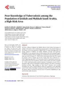 Poor Knowledge of Tuberculosis among the Population of Jeddah and ...