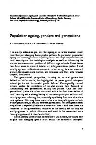 Population ageing, genders and generations