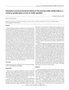 Population and environmental effects on the size-fecundity ... - BioOne