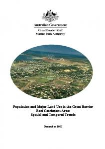 Population and Major Land Use in the Great ... - GBRMPA ELibrary