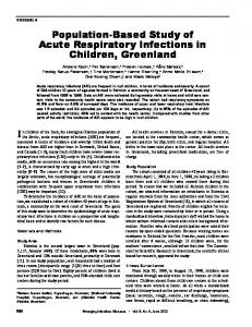 Population-Based Study of Acute Respiratory Infections in Children ...