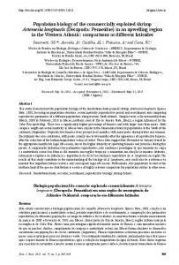 Population biology of the commercially exploited shrimp ... - scielo.br