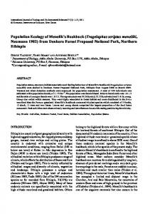 Population Ecology of Menelik's Bushbuck