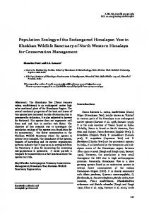Population ecology of the endangered Himalayan Yew in Khokhan ...