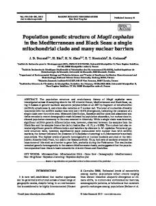 Population genetic structure of Mugil cephalus in the Mediterranean ...