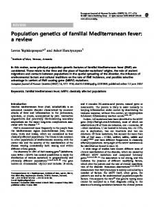 Population genetics of familial Mediterranean fever: a review - Nature