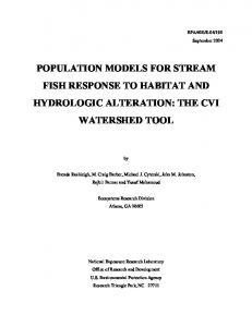 Population models for stream fish response to habitat and hydrologic ...