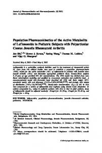 Population Pharmacokinetics of the Active Metabolite ...