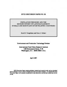 Population Pressure and the Microeconomy of Land Management in ...