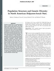 Population structure and genetic diversity in North ... - PubAg - USDA