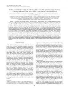 Population structure of the malaria vector Anopheles ... - CiteSeerX