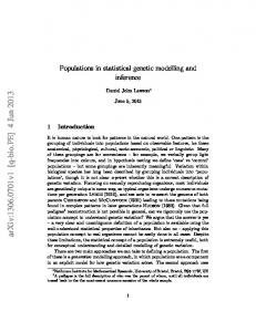Populations in statistical genetic modelling and inference
