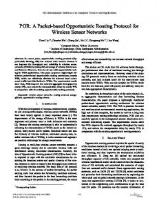 POR: A Packet-Based Opportunistic Routing Protocol for Wireless ...