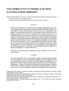 pore-forming activity of morning glory resin glycosides in model ...