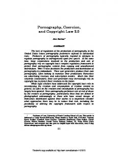 Pornography, Coercion, and Copyright Law 2.0 - SSRN papers
