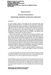 Porous boundaries - Brill Online Books and Journals